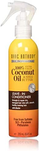 Marc Anthony 100% Extra Virgin Coconut Oil & Shea Butter Leave-In Conditioner, 8.4 Ounce Spray Can