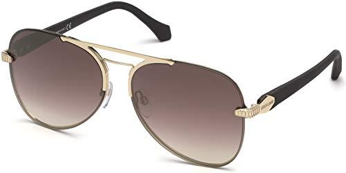Roberto Cavalli Glasses - Sunglasses Roberto Cavalli RC 1091 Monterotondo 32G Shiny Pale Gold, Rubberized