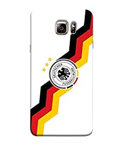 ColorKing Football Germany 25 White shell case cover for Samsung S6
