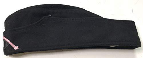 WWII GERMAN HEER PANZER BLACK WOOL M34 OVERSEAS SIDE CAP- MEDIUM ()