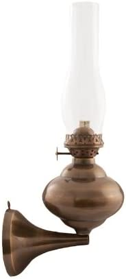 Vermont Lanterns Wall Mounted Oil Lamp Antique Brass Sterling 11 – Hurricane Lamps