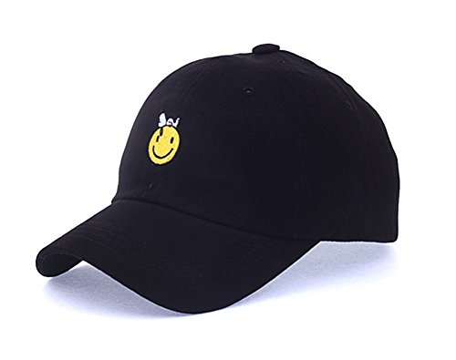 Snoopy Ball (myglory77mall Peanuts Authentic Baseball Trucker Golf Sports Hats snoopy smile Ball CAPs Black)