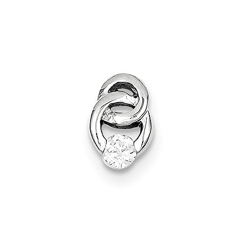 - 925 Sterling Silver Cubic Zirconia Cz Pendant Charm Necklace Slide Fine Jewelry Gifts For Women For Her