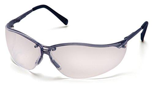 Pyramex V2-Metal Safety Eyewear, Clear Lens With Gun Metal Frame