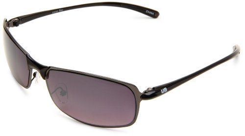 union-bay-mens-u857-gunmetal-rectanglular-metal-grey-frame-gradient-smoke-lens-one-size