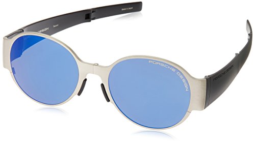 Porsche Design Foldable Sunglasses Titanium Frame Dark Blue Mirror Lens P8592 - Sunglasses Kardashian 2016