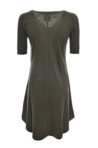 Wyabi0029 Manica Scuro Woolrich Penn Mezza Vestito Verde Lungo Donna Jersey rich By TpqzO