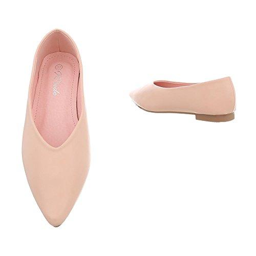 tacco da Scarpe Ballerine classiche donna Design Ballerine Altrosa blocco Xq55068 a Ital aUawOqtg