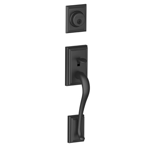 Schlage F58 ADD 622 Addison Exterior Handleset with Deadbolt, Matte Black (Exterior Half Only)