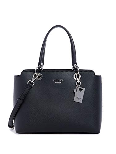 GUESS Factory Evelina Saffiano Faux-Leather Satchel (Guess Handbag Under $50)