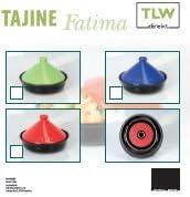 Tajine orientale marocaine en c/éramique Pour plaque vitroc/éramique four /électrique faitout Carnet de recettes vert fran/çais non garanti