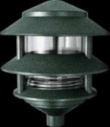 RAB Lighting LL322VG 3 Tier Lawn Path Fixture, A-19 Type, 75W Power, 1220 Lumens, 120VAC, Verde Green