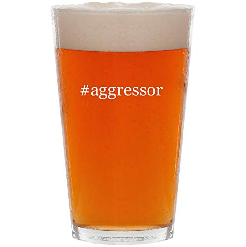#aggressor - 16oz Hashtag Pint Beer Glass ()