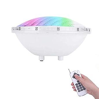 COOLWEST RGBW 36W Iluminación de piscinas LED PAR56, para el reemplazo de bombilla halógena 250W, 12V AC/DC IP68 Impermeable, con Control Remoto: Amazon.es: ...
