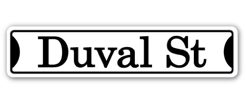 Duval St Street [3 Pack] of Vinyl Decal Stickers | 1.5
