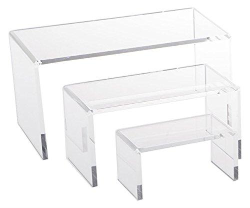 3 Piece Acrylic Riser Set (Display Riser)
