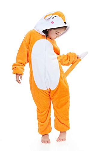 Kids Animal Onesie Unicorn Pajamas Christmas Halloween Cosplay Costume Fox 140