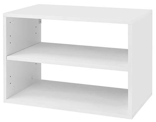 Organized Living freedomRail 1 Shelf OBox - White