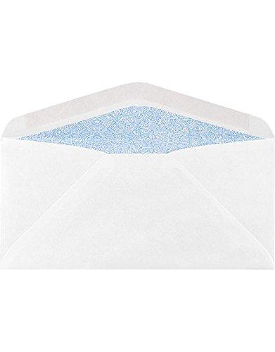 # 61/4sobres (31/2X 6)–24Lb. Color blanco w Regular/Tinte de seguridad (500QTY.) | perfecto para Temporada,...