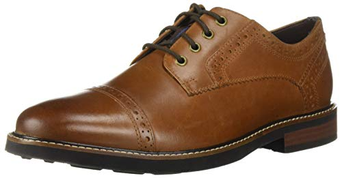 Nunn Bush Men Overland Cap Toe Oxford Lace Up with with KORE Technology, Tan Crazy Horse, 10 X-Wide ()