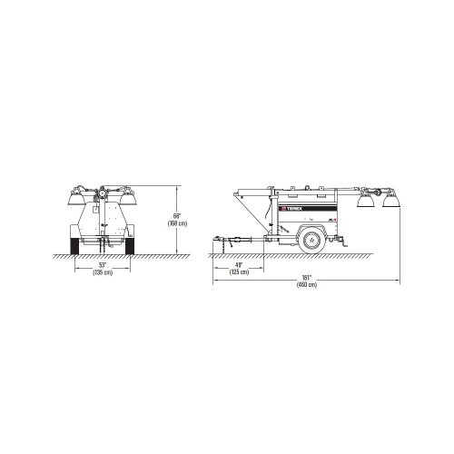 Portable Light Tower Price: Terex AL4 Heavy-Duty Portable Light Tower,6kW Generator