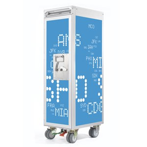 Skypak Flugzeugtrolley, Airport Codes, Farbe: Skyblue