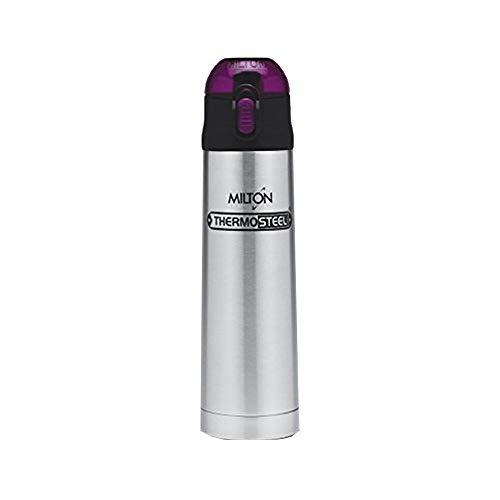 Milton Crown 600 Thermosteel Water Bottle, 500 ml, Purple