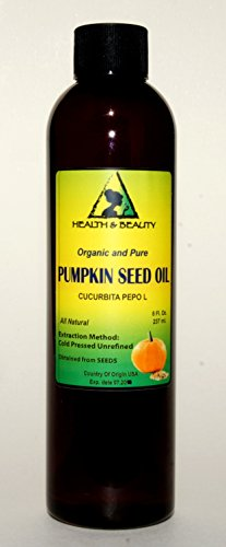 Pumpkin Seed Oil Unrefined Organic Carrier Cold Pressed Pure 8 oz