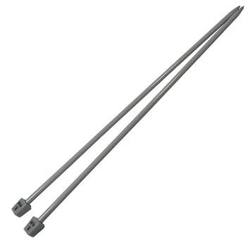 1 Paar Aluminium Stricknadeln Stärke 2,5mm gerade 35cm Legierung robust Metall