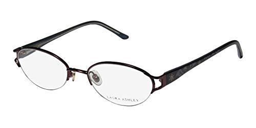 Laura Ashley Matilda Womens/Ladies Oval Half-rim Eyeglasses/Glasses (51-18-135, Plum / Blue) (Eyewear Ashley Laura Eyeglasses)