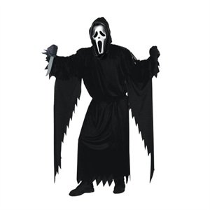 Fun World Costumes Adult Scream Costume, Black, One Size -