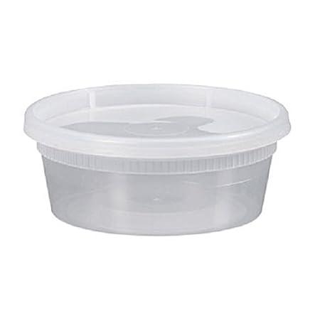 Safepro 8HD, 8 oz sopa/fiambreras de plástico con tapas ...