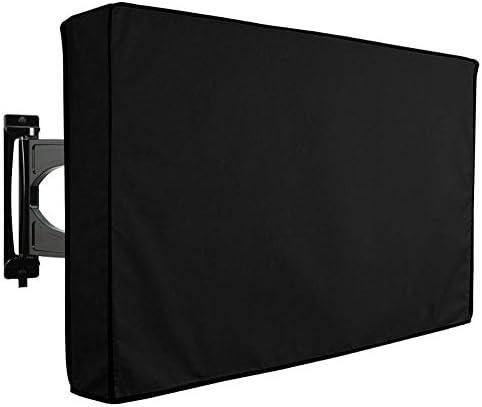 """ZXL Außenfernsehabdeckung (mehrere Größen) 600D Wasserdichter Oxford ClothTV-Schutz, für LCD, LED, Plasma, Flachbildfernseher, eingebaute Aufbewahrungstasche für Fernbedienung, schwarz, 36""""bis"""