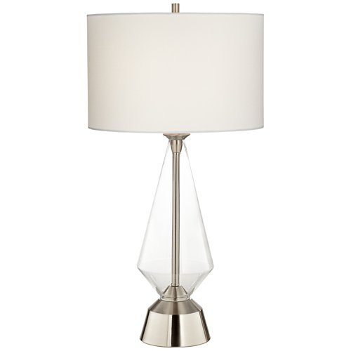Bellini Brushed Nickel Clear Glass Prism Table Lamp