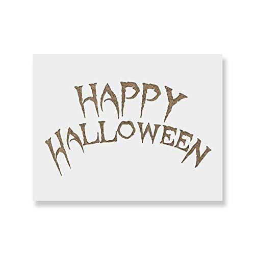 (Happy Halloween Wicked Stencil Template - Reusable Stencil with Multiple Sizes)