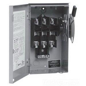 Eaton DG325NRK 4 Wire 3 Pole Fusible K Series General-Duty Safety Switch 240 Volt AC 400 Amp NEMA 3R