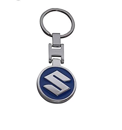 Suzuki Chrome Metal Car Logo Keyring Key Fob Keychain