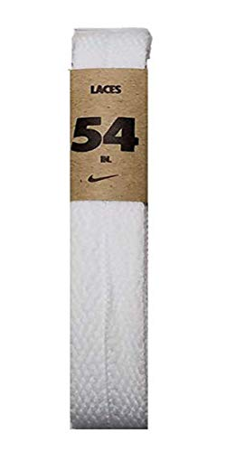 Nike Unisex Replacement Shoelaces Flat String Cords Shoe Laces (White, 54)
