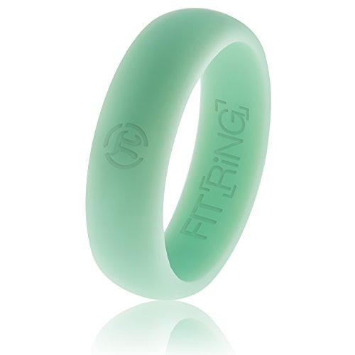 Onyx Enhancer - Arthletic Fit Ring Women's Silicone Wedding Ring by (Black, Blue/Aqua, Pink, Purple, Green) Quality Rubber Wedding Ring Flexible Engagement Band from the Fit Ring (Aurora Blue, 10)