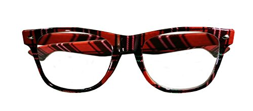 Nerd Glasses Taped Plaid Geek Accessory Halloween Bifocals Dork Adult Four (Dork Costumes)