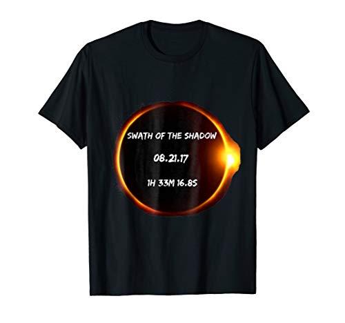 Swath of the Shadow Total Solar Eclipse 2017 tshirt
