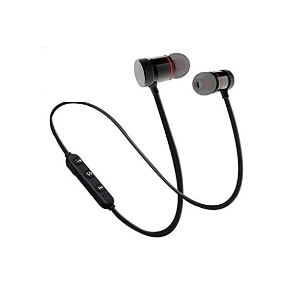 SBA BM-105 Light Weight Magnetic Bluetooth Headset Earphone & Calling Function Support for All Smartphone (Assorted