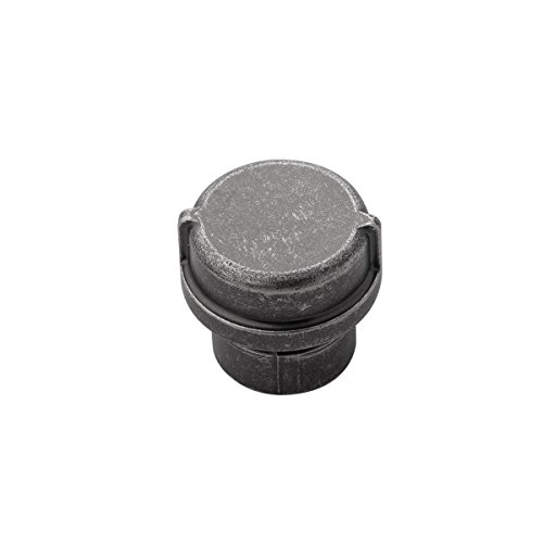 - Hickory Hardware HH075028-BNV Pipeline Collection Knob, 1-1/4 Inch Diameter, Black Nickel Vibed