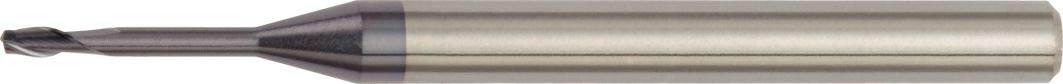 Straight Shank Carbide 2.5 mm Cutting Diameter TiAlN 2-Flute RH Cut WIDIA Hanita 7N0202502RJ Vision Plus Micro 7N02 HP Hard Material End Mill