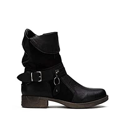 Amazon.com | Guige Women Boots Winter Ankle Boots Zipper
