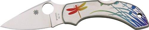 Spyderco Dragonfly SS Tattoo PlainEdge Knife, Outdoor Stuffs