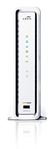 ARRIS Surfboard Docsis 3.0 16x4 Cable Modem/Wi-Fi AC1900 Router 4 Gigabit Ethernet Ports Download Speeds Up to 686Mbps Wi-fi Speeds up to 1900Mbps, SBG6900-AC, White (Non-Retail Packaging)
