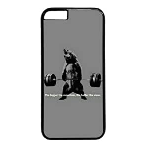 Bear Lifting Weights Quote Black Sides Hard Shell Case for Iphone6 4.7 inch by Sakuraelieechyan