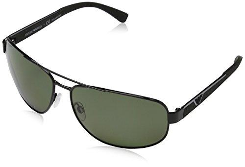 Emporio Armani Mens Sunglasses (EA2036) Black/Green Metal - Polarized - - Armani Ea2036 Emporio Sunglasses
