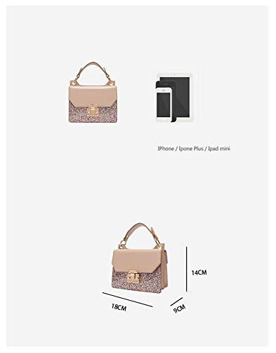 Color Casual Hxkb Moda De Colgado Cierre Suave Bolso Bag Solo Sólido A3 Bandolera Crossbody Cremallera Hombro q0xUqTf4